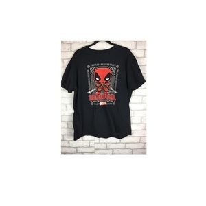 .Deadpool Funko POP! Black T-shirt By Marvel Large